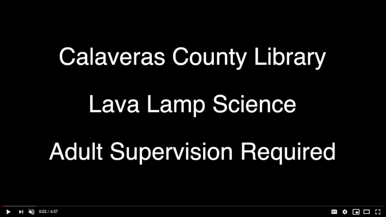 Link to YoutUbe video Lava Lamp Science